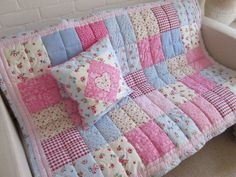 HANDMADE patchwork small single/ Cot/Bed quilt in Home, Furniture & DIY, Home Decor, Throws | eBay