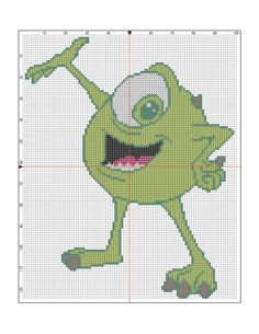 monsters incorporated free cross stitch pattern-01-03