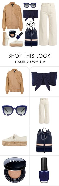 """""""Opening Ceremony"""" by thestyleartisan ❤ liked on Polyvore featuring Opening Ceremony, Solid & Striped, Grey Ant, Brock Collection, Superga, Mother of Pearl, Christian Dior and OPI"""