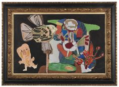 AUCTION FIVE | Karel Appel, Untitled. Gouache, collage, and wax crayon on paper. 84 x 99 cm.