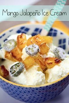 Mango Jalapeño Ice Cream (makes about 1 quart):