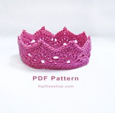 How to crochet a crown pattern PDF file. *** This listing is for a PDF PATTERN INSTANT DOWNLOAD*** Make a sweet little crown for that special newborn Prince or Princess. Newborn Photography Props. This listing is for a crocheted baby crown headband PATTERN. Its NOT a completed headband.