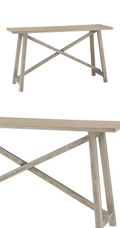 Elevate your entryway or a bare living nook with this handsome addition. Beautifully crafted from rustic, gray washed driftwood, this Timberwolfe Console Table boasts a clean, traditional silhouette th...  Find the Timberwolfe Console Table, as seen in the #Knitted&Woven Collection at http://dotandbo.com/collections/knitted-and-woven?utm_source=pinterest&utm_medium=organic&db_sku=115898