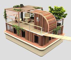 Casa flutuante Ecologica