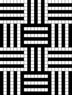 Just a small Pattern for double knitting… just repeat it again… and again… and again. Form Crochet, Crochet Chart, Filet Crochet, Crochet Stitches, Crochet Afghans, Line Patterns, Mosaic Patterns, Stitch Patterns, Knitting Charts