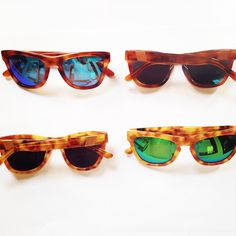 c4ff34ebf5ccf NEW from Westward Leaning  Neon Classics in amber and blonde tortoise.  Perfect for Labor Day weekend and beyond.