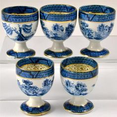 Old Willow Egg Cups.... love these by Booths China