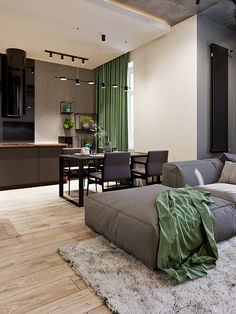 Interior design of 2 floor apartments locates in Kyiv, made in minimalistic style with loft elements using natural materials Loft Design, Deco Design, House Design, India Home Decor, Woman Bedroom, Living Room Kitchen, Apartment Design, Bedroom Sets, Contemporary Interior