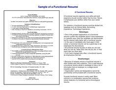 Chrono Functional Resume Sample Hire Me 101