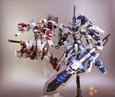MG 1/100 Kamui ABF VS Raizen ARF Custom Build - Gundam Kits Collection News and Reviews
