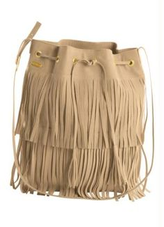 Bolsa Saco com Franjas Bege - Quintess f4854b671ba