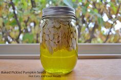 Baked Pickled Pumpkin Seeds Recipe