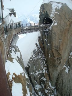 """The name """"Aiguille du Midi"""" translates literally as """"Needle of the Noon"""" or """"Needle of the South"""". It gets its name from its tapered form and from its position when viewed from Chamonix: it approximately indicates noon when the sun passes over its summit."""