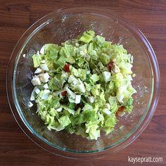 Delicious Chicken Cobb Avocado Salad    Just like Panera!