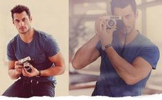 "~Christian with his new Camera~  ""He grabs the camera by the lens and the photographer becomes the subject as he points the Nikon at me and presses the shutter down. :So you want me to take pictures of you Mrs. Grey?""   David James Gandy for Lucky Brand Clothing 2012 My Christian Grey!!"