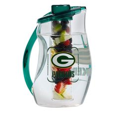 Green Bay Packers Infuser Pitcher at the Packers Pro Shop Go Packers, Green Bay Packers, Infused Water, Refreshing Drinks, Water Bottle, Shop, Health, Sports, Hair