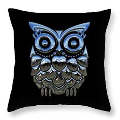 Owl Throw Pillow featuring the mixed media Owl Who by Marvin Blaine