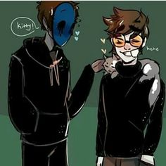 j: heyy mini tobyy Toby: hi hi Cat:*purring* << who else agrees that EJ is like a cat? Creepypasta Ticci Toby, Creepypasta Proxy, Creepypasta Cute, Eyeless Jack, Scary Stories, Horror Stories, Jeff The Killer, Creepypasta Wallpaper, Creepy Pasta Family