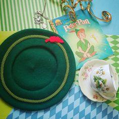Peter Pan Green Wool Beret