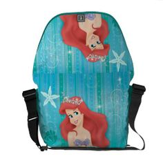 Ariel and Castle Messenger Bag. Beautiful Disney princess Ariel designs to personalize as a gift for yourself or friends and family. Wonderful gift ideas for birthdays. Custom Messenger Bags, Messenger Bag Men, Disney Love, Disney Stuff, Ariel Disney, Disney Cruise, Pack Your Bags, Ariel The Little Mermaid, Beautiful Bags
