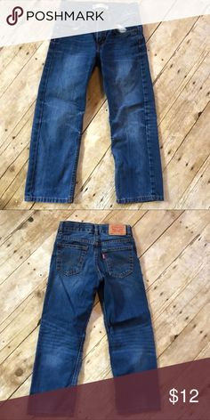 Boys Levis 505 Jeans 7X Regular Preloved Boys Levi's Jeans 7 X regular Hook button Great condition Levi's Bottoms Jeans