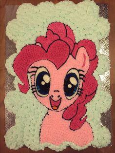 Pinky pie pull apart cupcake cake