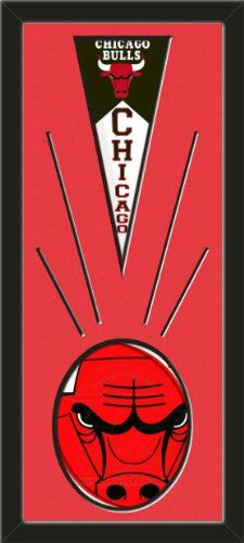 Chicago Bulls Wool Felt Mini Pennant & Chicago Bulls Team Logo Photo - Framed With Team Color Double Matting In A Quality Black Frame-Awesome & Beautiful-Must For A Championship Team Fan! Most NFL, MLB, NBA, Teams Available-Plz Mention In Gift Message If Need A different Team Art and More, Davenport, IA http://www.amazon.com/dp/B00I2KZAWS/ref=cm_sw_r_pi_dp_sjtEub02SZE0Y