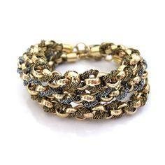 Metallic Kumi Bracelet by YUEN London