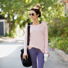 Go Long Crew with thumb-holes, Ballet Pink | Albion Fit | Surprisingly cheap, as trendy workout clothes go. Might buy a couple.