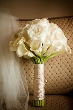 Calla Lilly, Rose and could add white tulips