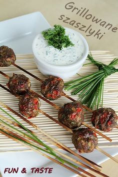Fun & Taste: Grilled, healthy, colorful :) Polish meatballs grilled 500g of minced beef 1 onion 1 large clove of garlic 1 red pepper 2 med.pickles 1/2 bunch of fresh parsley, chopped 1tsp cayenne pepper salt and pepper