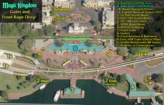 Robo's map of MK front gates and rope drop holding area, also shows the different transportation areas out front of MK.   The post explains the current rope drop procedures in each park,  as of 10/17/15.   Needless to say, the procedures are subject to change....