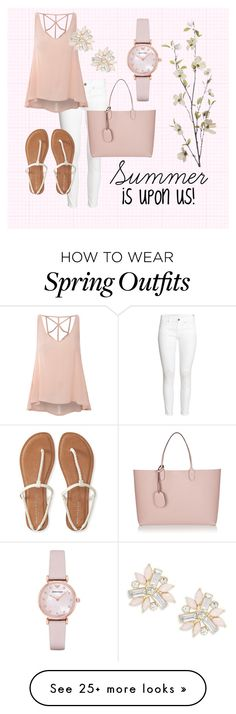 """""""Casual Spring Outfit"""" by mackmurph on Polyvore featuring H&M, Glamorous, Aéropostale, Gucci, Emporio Armani, Cara and Pier 1 Imports"""