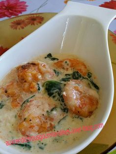 Spinach and shrimp gratin at Cooking Chef A very nice spinach / shrimp combination that I discovered Cooking Chef Gourmet, Cooking Cake, Cooking Recipes, Kenwood Cooking, Cooking Videos, Cooking For A Group, New Cooking, Couple Cooking, Cooking Pasta