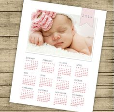 Calendar 2014 personalizable printable PDF by ByYolanda on Etsy, €5.00