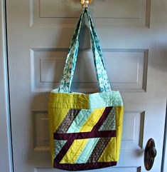 A Quilt-as-you-go Tote : :