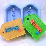2-Cavities King And Queen Shape Silicone Mould Handmade Soap Mold Biscuit Mold