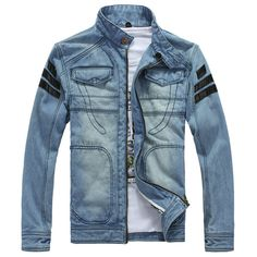 Vintage Mens Clássica Jaqueta Jeans Slim Fit Moto Jaqueta Jeans casacos Com Capuz Denim Jacket Fashion, Denim Shirt Men, Denim Jacket Men, Leather Jacket, Man Jacket, Denim Coat, Denim Jackets, Pu Leather, Hooded Jean Jackets