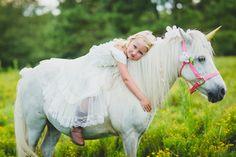 Unicorn Photography Session, Southern Pines, NC.  Jennifer B Photography