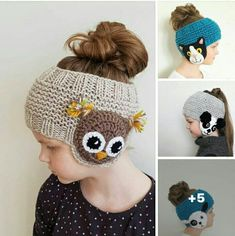 Bandeau fille - Her Crochet Baby Knitting Patterns, Crochet Patterns, Loom Knitting, Hand Knitting, Crochet For Kids, Crochet Baby, Knit Crochet, Free Crochet, Yarn Projects