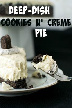Deep-Dish Cookies n' Creme Pie | A baJillian Recipes