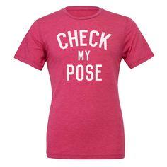 Yoga shirt - Check my pose