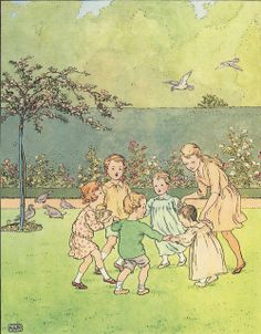 Ring O' Roses  From Ring O Roses . Illustrated by L. Leslie Brooke . 1920s