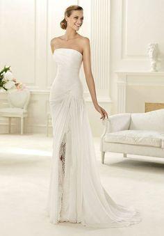 38 Striking Wedding Dresses with Slit - Sortra