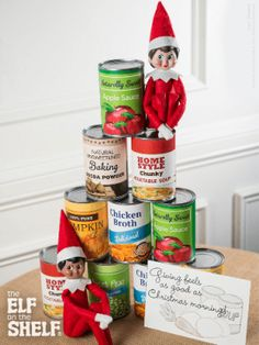 Encouraging helpful acts - like making a donation to the food bank (or donating toys, clothes, etc)