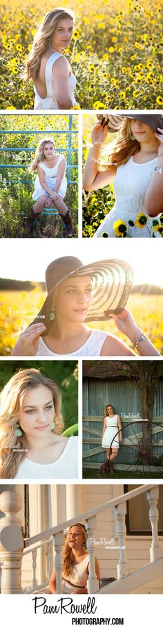 Senior Picture Ideas for Girls | Senior Pictures Girl | Senior Girl Field of Yellow Flowers | Senior Girl Poses | Pam Rowell Photography | Photographer | Senior Portraits | Senior Pics | Portrai...