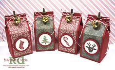 mini milk cartons for Christmas...love the jingle bell!