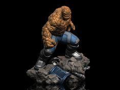 "ArtStation - Ben Grimm ""The Thing"", Earl Vincent Kasilag Figure Poses, Comics Universe, Fantastic Four, Grimm, Master Chief, Iron Man, Sculpting, Action Figures, Scale"