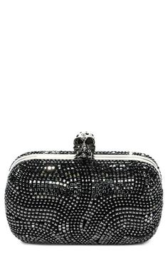Alexander McQueen Crystal Frame Clutch available at #Nordstrom