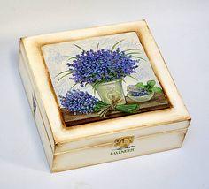 Krabičky - Levanduľová kytica - 4204622_